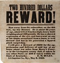 runaway slave ad
